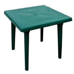 Стол квадратный, зеленый