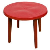 Стол круглый, красный