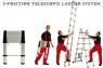 Лестница телескопическая двухсекционная 158/320см 12,1кг STARTUL (ST9713-025)