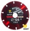 Алмазный диск по металлу GRAFF Raptor 125хх22,23 мм