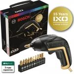 Отвертка аккумуляторная Bosch IXO Gold&Black