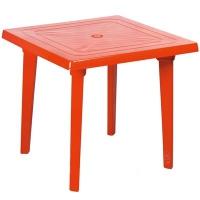 Стол квадратный, красный