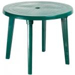 Стол круглый, зеленый