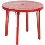 Стол круглый, бордовый