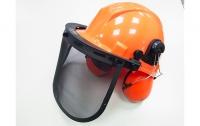 Шлем защитный с щитком и наушниками