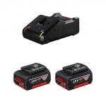 Набор 2 аккумулятора BOSCH GBA18V 4.0 Ah и зарядное GAL 18V-40
