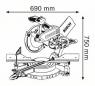 Торцовочная пила GCM 12 SD Professional