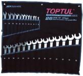 Набор ключей комбинир. динамических TOPTUL 6-32 мм 26шт GPAB2602