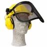 Защитный шлем с щитком и наушниками
