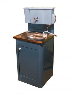"""Умывальник-тумба с водонагревателем и терморегулятором """"Водолей"""" (шаровый кран, нержавейка)"""