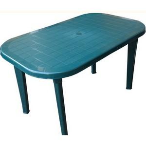 Стол пластиковый овальный зеленый Милан