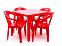 Набор мебели пластиковой Луч красный