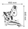 Торцовочная пила Bosch GCM 8 SDE