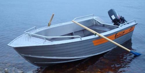 Лодка Вельбот алюминивая (моторно-гребная) Wellboat 42